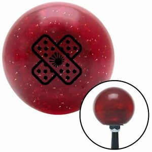 Black Jdm Band aid Red Metal Flake Shift Knob With 16mm X 1 5 Insert 956 A Body