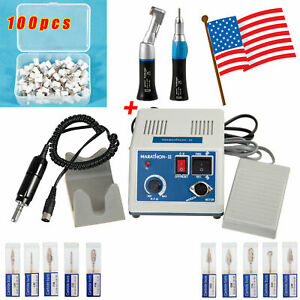 Dental Electric Micromotor Contra Angle Straight burs Polishing Cup White