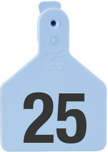 Z Tags Calf Ear Tags Blue Numbered 176 200