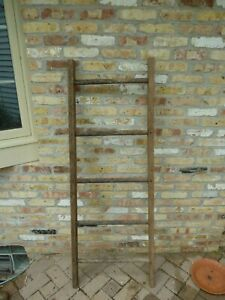 Decorative Vintage Old Wooden Ladder 5 Ft 60 For Use In Decorating