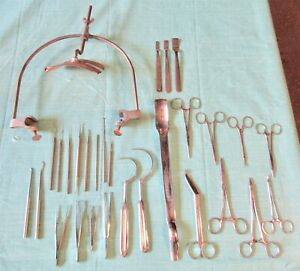 Vtg Lot Head Skull Clamp Rest Medical Tools Surgical Instruments Supplies