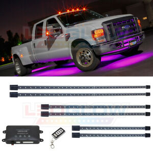 Ledglow 6pc Pink Wireless Smd Led Truck Underbody Underglow Lighting Kit