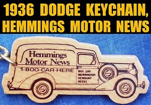 1936 Dodge Humpback Panel Truck Hemmings Key Ring Fob Vintage Keychain Keyring