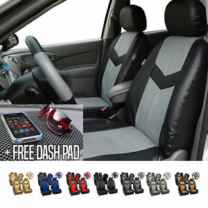 Pu Leather Car Seat Covers For Auto W Steering Cover belt Pads dash Pad