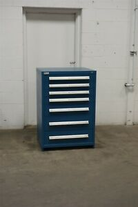 Used Vidmar 7 Drawer Cabinet 44 Inch Tall Industrial Tool Storage 1706
