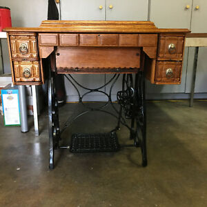 Vintage Antique New Home Climax Treadle Sewing Machine