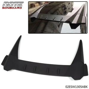 For Honda Civic 10th 2016 2018 Abs R Style Rear Roof Cover Spoiler Wing Black