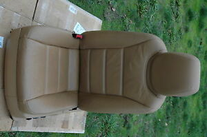 04 Porsche Cayenne Turbo Front Driver Seat 12 Way Power Heated Memory Tan Oem