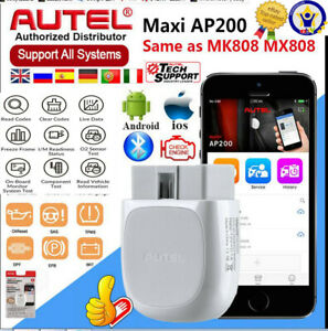 Autel Maxi Ap200 Bluetooth Obd2 Scanner Code Reader Full Systems Auto Diagnoses