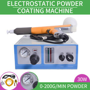 New Electrostatic Powder Coating Spray Gun Spray Machine Paint System 110v