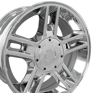 20 Rims Fit Ford F 150 Harley Chrome Wheels 3410 Set Of 4
