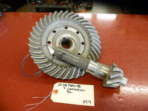 1935 1936 1937 1938 Ford Commercial Pickup Truck Ring Pinion Gear Set 37 9