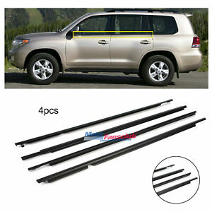 4x For Toyota Land Cruiser Prado Lexus 2003 2009 Glass Window Weatherstrip Trim