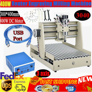 3axis 3040 Usb Cnc Router Engraver 3d Cutter Wood Carving Engraving Machine 400w