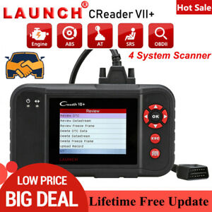 Launch X431 Vii Car Obd2 Scanner Srs Abs Diagnostic Tool Code Reader Pk Crp123