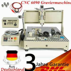 Usb 4 Axis Cnc 6090 Router Engraver Wood Pvc Carving Milling Machine 2200w rc