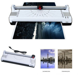 Home Office Laminator Laminating Machine A3 a4 a6 Paper Trimmer Cutter Corner Us