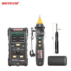 Nktech Nk6817 Cable Wire Trackers Tester Lan Finder Rj45 Rj11 Bnc Line Detector
