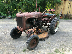 2 Allis Chalmers B Tractors Plow Cultivators Sickle Mower Brush Hog C