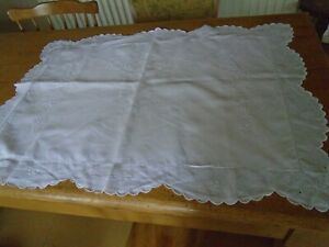 Antique Irish Linen Pillowcase White Embroidery Work