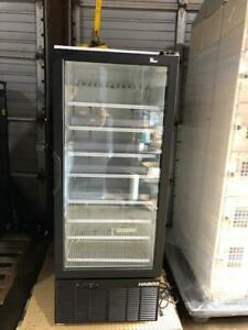 Pharmacy Cooler Refrigerator One Door Glass Commercial Used Store Fixtures Hadco