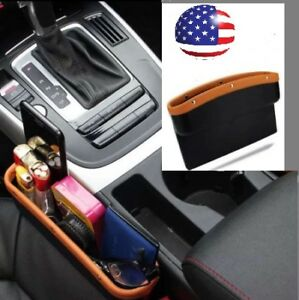 Car Seat Pocket Organizer Caddy Catcher Gap Filler Car Truck Suv Us Stock Brown
