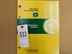 John Deere 1650 Series Drawn Chisel Plow Operators Manual Tag 633