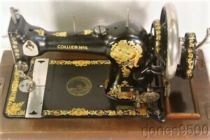 Collier Hand Crank Sewing Machine Made By Jones 1920s