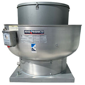 Commercial Restaurant Kitchen Exhaust Fan 2800 Cfm 28 Base 75 Hp 115 V