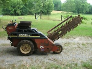 Ditch Witch Model 1820 Walk Behind Trencher With A 18 Hp Honda gx610 Engine