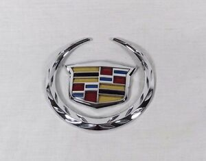 Cadillac Ats Emblem 13 14 Rear Trunk Genuine Oem Chrome Badge Sign Logo Symbol