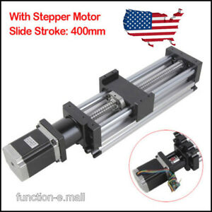 400mm Ball Screw Linear Cnc Slide Stroke 400mm Long Stage Actuator Stepper Motor