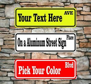 New Custom Street Sign With Your Text Name Personalized 3 X 12 Aluminum Garage