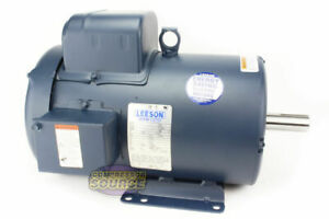 5 Hp 1 Phase Tefc Electric Motor Totally Enclosed 184t Frame 230 Volts 1740 Rpm