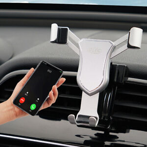 Silver Car Air Vent Mount Cradle Holder Stand Phone For Jaguar Xe 2015 2019