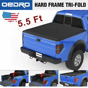 Oedro Soft Tri Fold Tonneau Cover Fit For 2015 2019 Ford F150 Truck 5 5 Bed