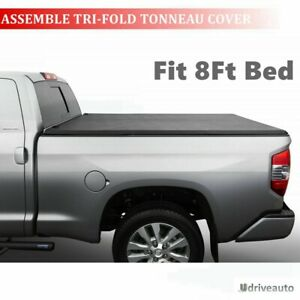 Assemble Lock Tri Fold Tonneau Cover For 2009 2018 Ford F 150 8 Long Bed Only