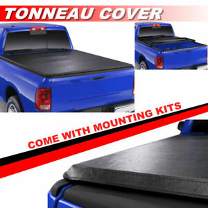 Soft Tri Fold Lock Tonneau Cover For 2009 2018 Ford F150 F 150 8ft 96in Bed