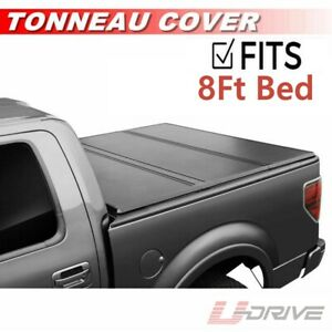 Lock Tri Fold Hard Solid Tonneau Cover For 2009 2018 Ford F 150 96in Bed