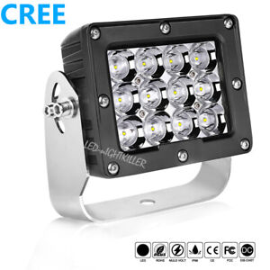 6inch Cree Square Led Spot Driving Lights 120w Pods Work Light Bar Atv Truck 4wd