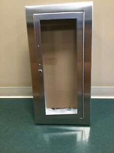 C1036g17 Cosmopolitan Semi Recessed Stainless Steel Fire Extinguisher Cabinet