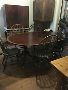 Price Reduced Mahogany Double Pedestal Dining Table
