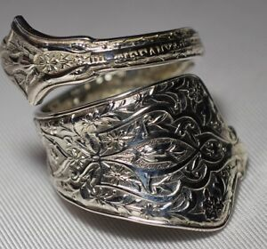 Antique 1872 Tiffany Co Persian Sterling Spoon Ring Free Ship Size 7 M