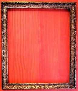 20 X 24 Standard Picture Frame Carved Gold Leaf All Wood 2 Wide Fab