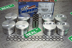 Srp Forged Pistons Flat Top 351w Windsor Stroker 4 030 Bore 12 0 1 206059
