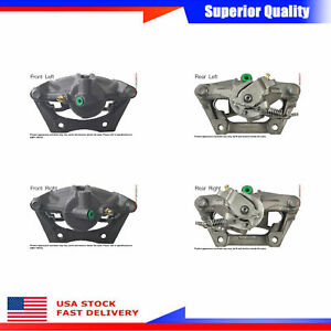 4pcs Brake Caliper Front Rear For 2005 Jaguar X Type Premium