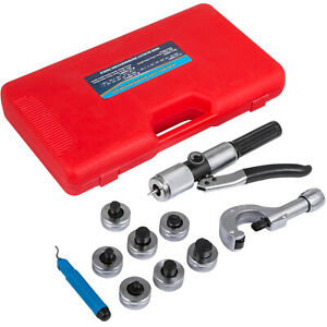 7 Lever Hydraulic Tubing Expander 3 8 1 1 8 Swaging Punches Pipe Hvac Tools