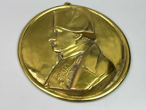 Early Napoleon Bust Gilt Over Bronze Remembrance Round Plaque