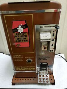 Grindmaster 505 Burr Commercial Fresh Ground Coffee Grinder 8 Oclock Brown Rare
