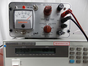 Power Designs Regulated Dc Power Supply Model 5005r 0 50v 0 500ma tested